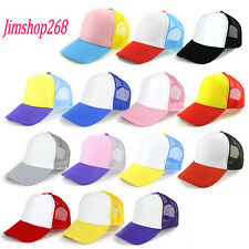 Unisex Sunhat Mesh Tennis Cap Hat Blank Visor Hat Adjustable Lovers Baseball Cap
