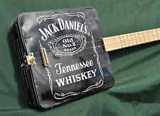 Jack Daniels Tin Guitar Cigar Box Electric Acoustic Banjo Ukulele Whisky
