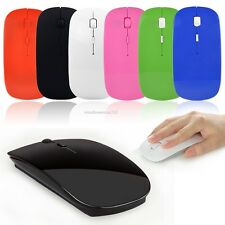 2.4GHz Slim Wireless Optical Mouse/Mice + USB Receiver For PC Laptop Computer