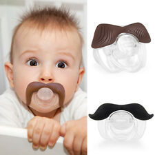 New Cool Baby Funny Dummy Prank Mustache Pacifier Teeth Children Soother Nipple