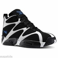 New Men's REEBOK Kamikaze I Mid - V60359 Black White Blue Shawn Kemp Basketball