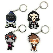 Overwatch Reaper Winston Tracer Emily Keychain Keyring Strap Rubber New