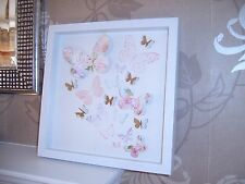 NEXT~Beautiful 3D Pastle & Gold Butterfly