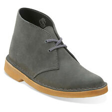 Clarks DESERT BOOT Womens Grey Suede Leather Lace Up Chukka Boot