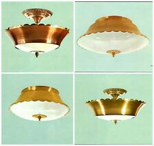 LAVERY VINTAGE MID-CENTURY RANCH MODERN ANTIQUE FIXTURE GOLD COPPER NEW 116 302