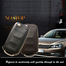 Leather Car Remote Key Fob Case Holder Cover Chains Fit For SKODA Remote Key