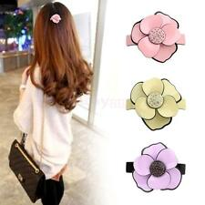 Women's Acrylic Camellia Hair Barrette Clip Ponytail Grip Flower Hair Accessory