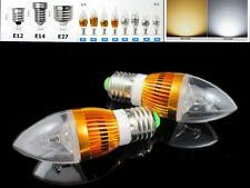 E12 E14 E27 3W High Power LED Chandelier Candle Light Bulb Lamp AC85-265V