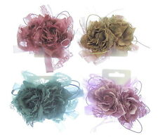 fascinator double headed hair clip and brooch pinsilk flower lace and ribbon
