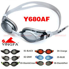 2016NEW YINGFA Y680AF SWIMMING GOGGLES ANTI-FOG BLACK ORANGE GRAY BLUE FREE SHIP