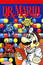 RGC Huge Poster - Dr. Mario Original Nintendo NES BOX ART - MAR007
