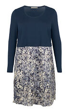Ann Harvey Womens Navy 2-in-1 Tunic Shirt Dress - Up To Size 32