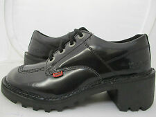 Kickers Womens Kopey Hi Black Leather Kickers Boots UK 4 US 6 EUR 37  REF 1626