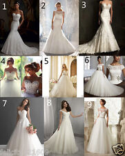 White/ivory Formal Wedding Dress Bridal Ball Gown Stock Size:4 6 8 10 12 14 16+