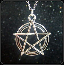 """Tibetan Silver Necklaces with various pendants and 18"""" silver chains Pentagram"""