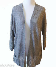 Chico's Gray Kint Cardigan Sweater Women's Lightweight Linen Rayon Cover