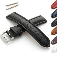 Leather Watch Strap, Alligator Grain M or XL, for Watches with 18-24mm Lug Width