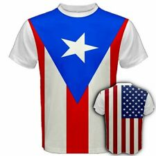 PUERTO RICO/UNITED STATES Mixed Flag Rican USA America Country Print T-SHIRT PUU