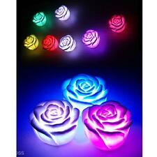 Fashion LED Romantic Color Changing Rose Flower Night Light Lamp Wedding Supply
