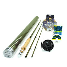 """NEW - Orvis Superfine Glass 6wt 8'6"""" Fly Rod Outfit - FREE SHIPPING!"""