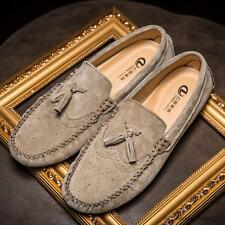 Mens casual Moccasin Loafer slip on tassel Driving suede leather boats Shoes new