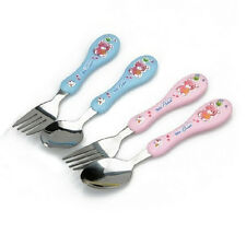 Cute Child Fork Cutlery Fork Spoon 304 Stainless Steel Baby Fork Spoon EW
