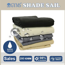 WATERPROOF SHADE SAIL RECTANGLE SQUARE TRIANGLE RIGHT ANGLE SUN AWNING GREY 280g