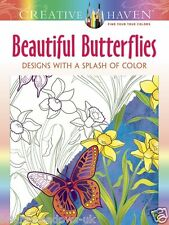 Beautiful Delicate Butterflies Adult Colouring Book Creative Art Therapy Relax