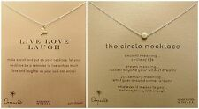 Dogeared Circle  & Live Laugh Love Necklace-GD-16""
