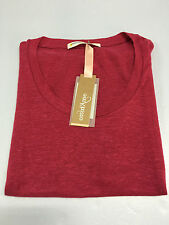 OTTOD'AME women's sweater fuchsia short sleeves 100% Linen MADE IN ITALY