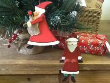 Wooden Santa Decoration Vintages Traditional Shabby Chic Nordic Style Christmas