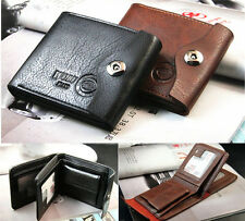 New Mens Wallet pu Leather Bifold ID Cards Holder Coin Pocket Slim Purse Bag