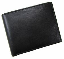 New London Stitch Mens Leather RFID Protected Bilfold Wallet with Passcase