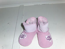 INFANT SKECHERS Girls Pink Baby Boos Ankle Boots Crib Shoes 89228 ( Y 23 )