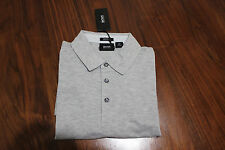 Boss Hugo Boss men grey Bellano cotton polo Short Sleeve T-shirt Size M