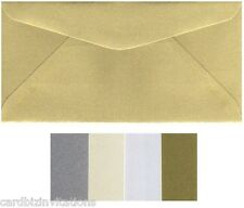 DL Envelopes (20) Metallic Colour Variations 220mm x 110mm  8.5 x4.2 inch New