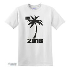 IBIZA 2016 STAG DO LADS HOLIDAY FUNNY PRINTED MENS SLOGAN TSHIRT NOVELTY
