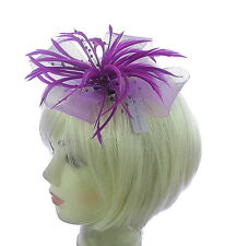 Magenta Purple fascinator clip for Weddings, Races, Special events