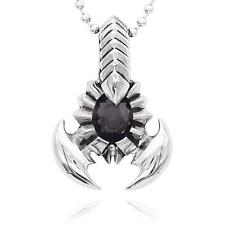Punk Rock Big Scorpion Stainless Steel Pendant Necklace Jewelry Gift for Men