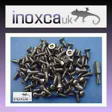 STAINLESS STEEL A2 TAMPER PROOF SECURITY WOOD SCREWS TORX PIN TX20 T20 CSK + BIT