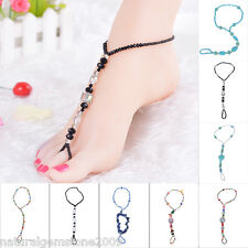 New Fashion handmade Korea Multielement Crystal Beaded Braided Rope Anklets