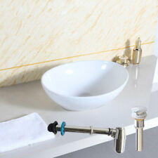 Hot! Countertop+Pop up Waste+Chrome Bottle Trap Cloakroom Bathroom Basin Sink