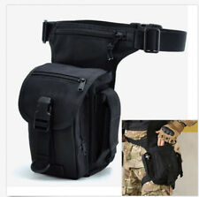 Men Nylon Drop Leg Waist Belt Fanny Pack Motorcycle Tactical Military Hiking Bag