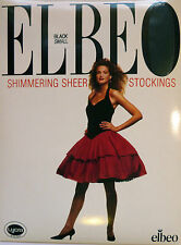 Elbeo Small Size Shimmering 12 Denier Sheer Stockings with Lycra