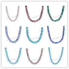6x4mm Glass Crystal Jewelry DIY Jewelry Making Rondelle Loose Beads 111Colors