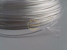 HiFi N-0.2 OCC Silver Plated Teflon 1.1mm Wire diy earphone audio cable 22Awg