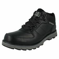 CATERPILLAR ARCHWAY MENS TRAINERS CASUAL WORK BLACK LACE UP LEATHER BOOTS SHOES