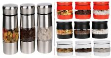 Set Of 3 Kitchen Tea Coffee Sugar Canisters Stainless Steel Storage Pots Jars