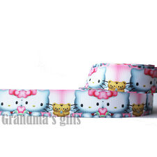 "1""25mm Cat j Printed grosgrain ribbon 5/50/100 yards hairbow Wholesale"