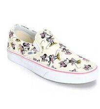 NEW IN BOX WOMENS 10 11.5 VANS CLASSIC SLIP ON DISNEY MINNIE MOUSE SKATE SHOES